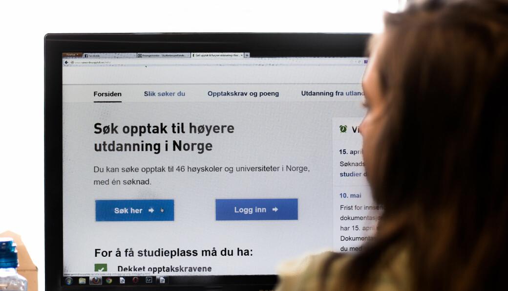 """<strong class="""""""">FLERE</strong> <span class="""" font-weight-bold"""" data-lab-font_weight_desktop=""""font-weight-bold"""">VIL STUDERE:</span> Flere søker seg inn på høyere utdanning i Norge. Økningen er størst for de over 30 år.<strong class=""""""""></strong>"""