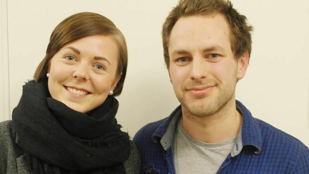 Studentrepresentantene Christian Tangene og Elise Landsem er for storsammenslåing