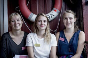 Åslaug, Andrine og Hanna i Litterært Kollektiv vil fortsette å satse på poesi.