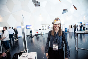SPENNENDE TESTING: Hjernestimulator, colorphone og virtuell virkelighet er bare en brøkdel av hva Technoport hadde å by på