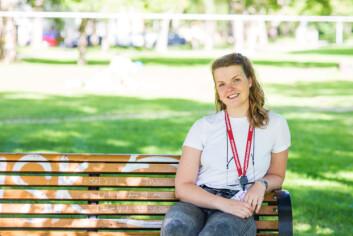 GI NOE TILBAKE: Tale Bærland ønsket å gi noe tilbake til Trondheims studenter. Som leder for Studentersamfundet ønsker hun blant annet å jobbe for de internasjonale studentene og ha høy politisk fokus.