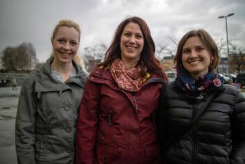 Heidi Mitlid, Inger Koppervik og Heidi Langmaack Lindås er tre av medlemmene i Trondheims A21-team.