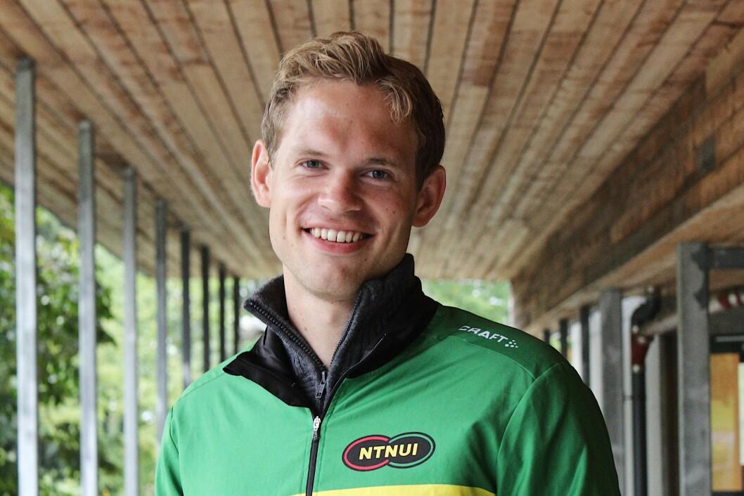 LEDER FOR NTNUI: Eirik Søreide Hansen mener at studentene i Trondheim har et av de beste treningstilbudene i Norge.