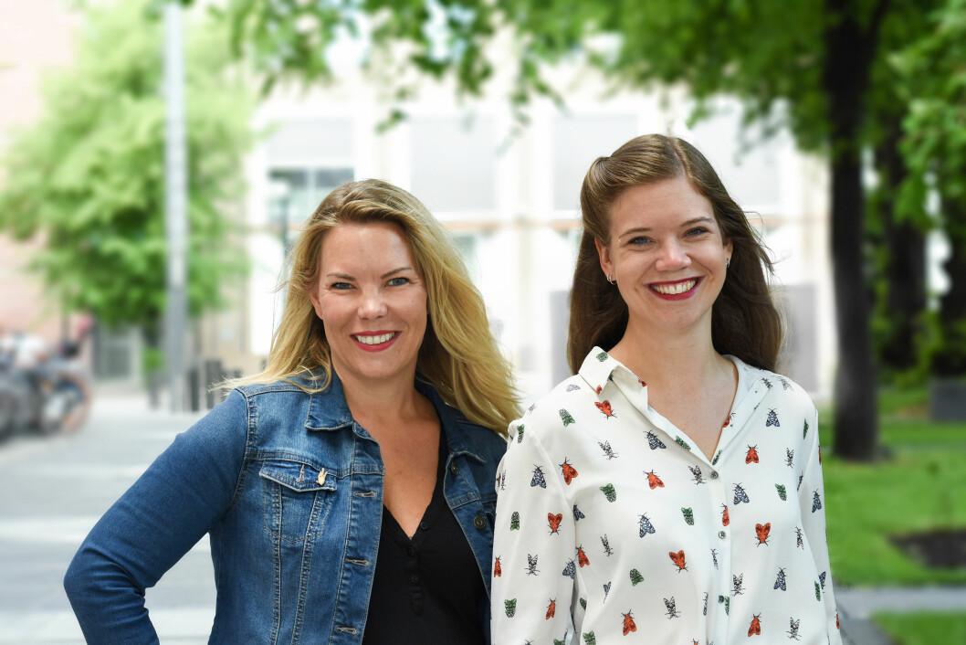 Kvinner i kamp: Marta Breen (t.v) kom i kontakt med tegneserieskaperen Jenny Jordahl da de jobbet sammen med boka F-ordet. Samarbeidet har blitt til hele fire bøker.