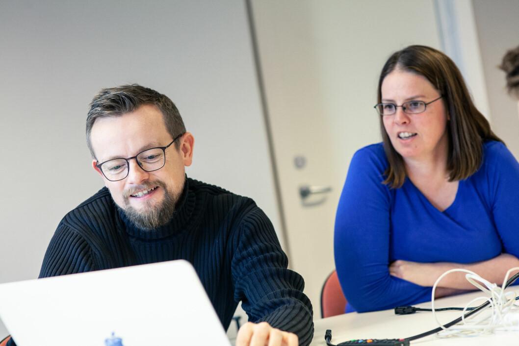 ULIK BAKGRUNN: De har begge ulik bakgrunn, men Dirk Ahlers (til venstre) og Silja Rønningsen (til høyre) arbeider nå sammen for et mer bærekraftig Trondheim.