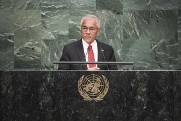 Anote Tong var president i Kiribati fra 2003 til 2016.