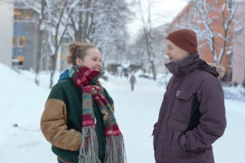 Silje Skjolden og pressesjef Tore Becker i ISFiT.