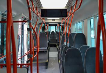 Slik ser metrobussene ut på innsiden.