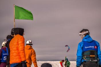 Fjorårets NM i snøkite var også arrangert av NTNUI Kite og gjekk over all forventing.