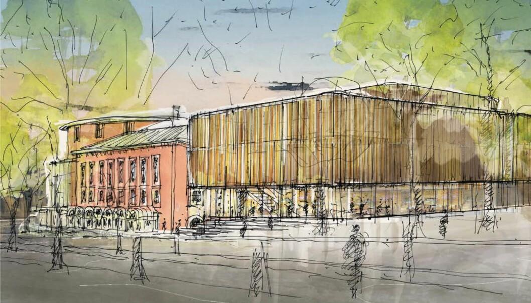 <b>NYTT TILBYGG: </b>Eggen arkitekter er arkitektkontoret som har fått oppdraget å tegne nybygget. Tegningen er en skisse til inspirasjon, og er ikke en plan for det endelige bygget.