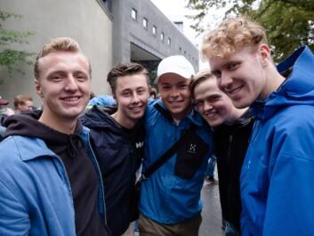 Harald, Anders, Herman, Christoffer og Bjørn.