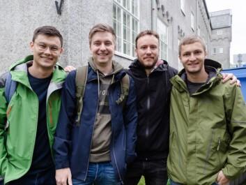 Andrew, Jonas, Simon og Nikolai.