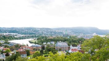 Utsikt over Trondheim fra Kristiansten festning.