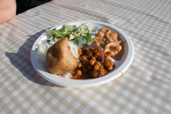 Har du god tid anbefaler vi vegetartallerken fra Indian Tandoori.