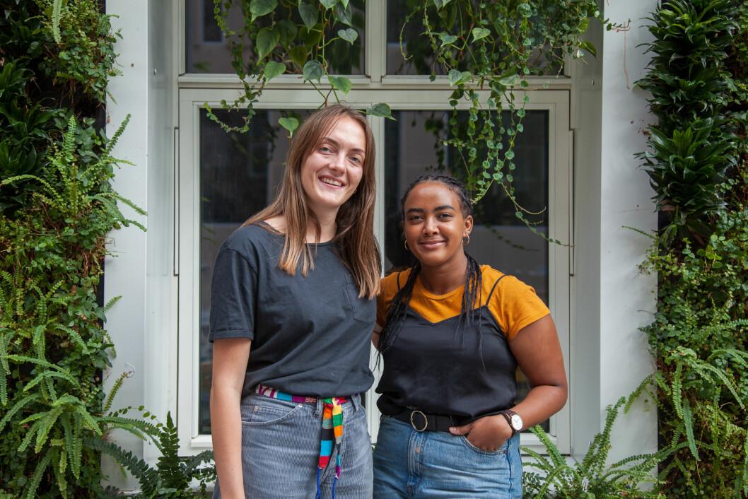 Språkkafé: Sunniva Skurtveit (t.v.) og Baseba Sium i Norsk Start samarbeider med Samfundet og arrangerer i høst språkkaféer på Edgar.