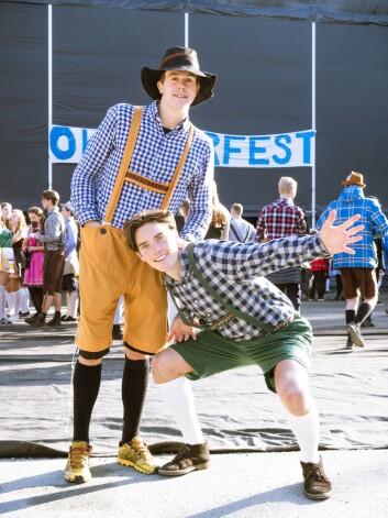 Henrik (24) og Jonas (22) tror oktoberfest er den beste festen under UKA