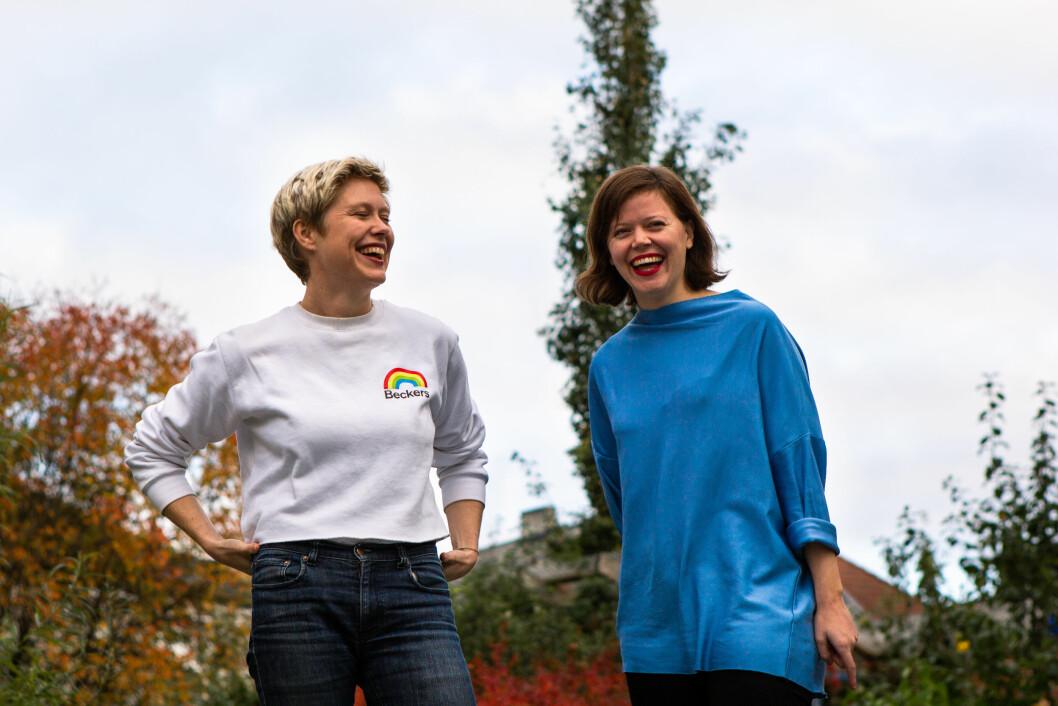 Samarbeid: Når man er fler står man sammen i den kreative prosessen, sier Silje Lindberg(t.h.) og Ingrid Liavaag.