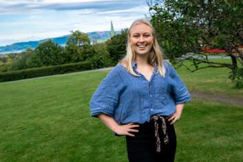 **Skal prøve** leder i velferdstinget Nina Salvesen forteller at de skal forsøke å imøtekomme studentenes behov.