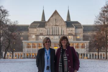 **Levende campus:** Administrerende direktør Audhild Kvam tror at boliger på Gløshaugen vil være et godt tiltak for å skape et levende campus -- direktør Lisbeth Glørstad Aspås for Sit bolig ønsker å bygge boliger der studentene vil bo.