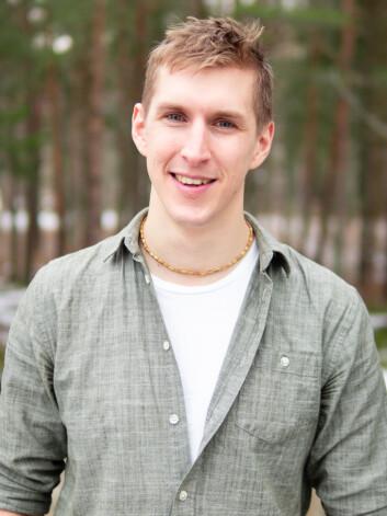 ENKEL LIVSSTIL: Minimalist Ruben Lundström synes det er herlig å bare eie ting han trenger.