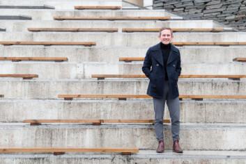GJENNOMTENKT: For student Vebjørn Svare er det viktig å tenke gjennom hva han kjøper og å ta godt vare på det etterpå.