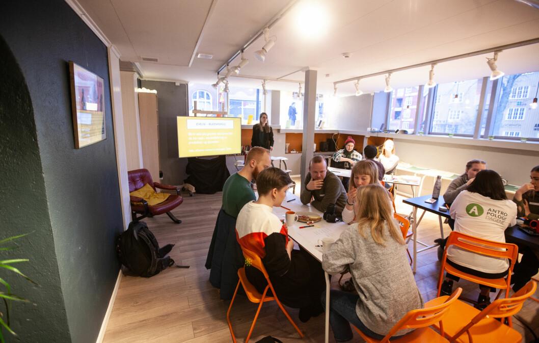 Antropologidagene 2020: workshop om grønnvasking, ledet av Tessa van der Staak.