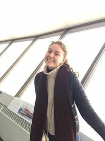 Følger rådene: Maria Brenna velger å reise hjem til 14 dager med karantene.