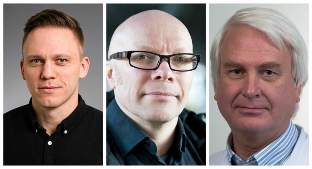 Jon Michael Gran, Øyvind Ihlen og Svein Arne Nordbø er alle eksperter på hvert sitt felt relatert til koronaviruset.