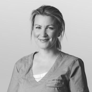 **Solkrem:** Hudlege Anne Birgitte Nordal sier det er ekstra viktig å beskytte huden nå med en bredspektret solkrem med spf over 30.