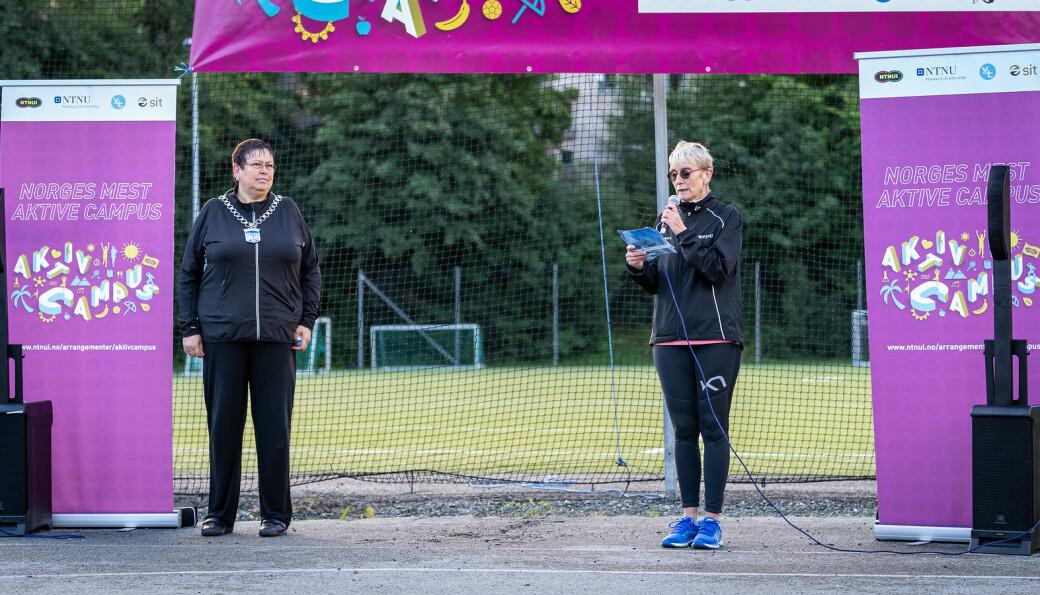 <b>UT PÅ LØPETUR? </b>Det finnes ingen bedre start på dagen enn litt fysisk aktivitet, kunne rektor ved NTNU Anne Borg fortelle under åpningen.