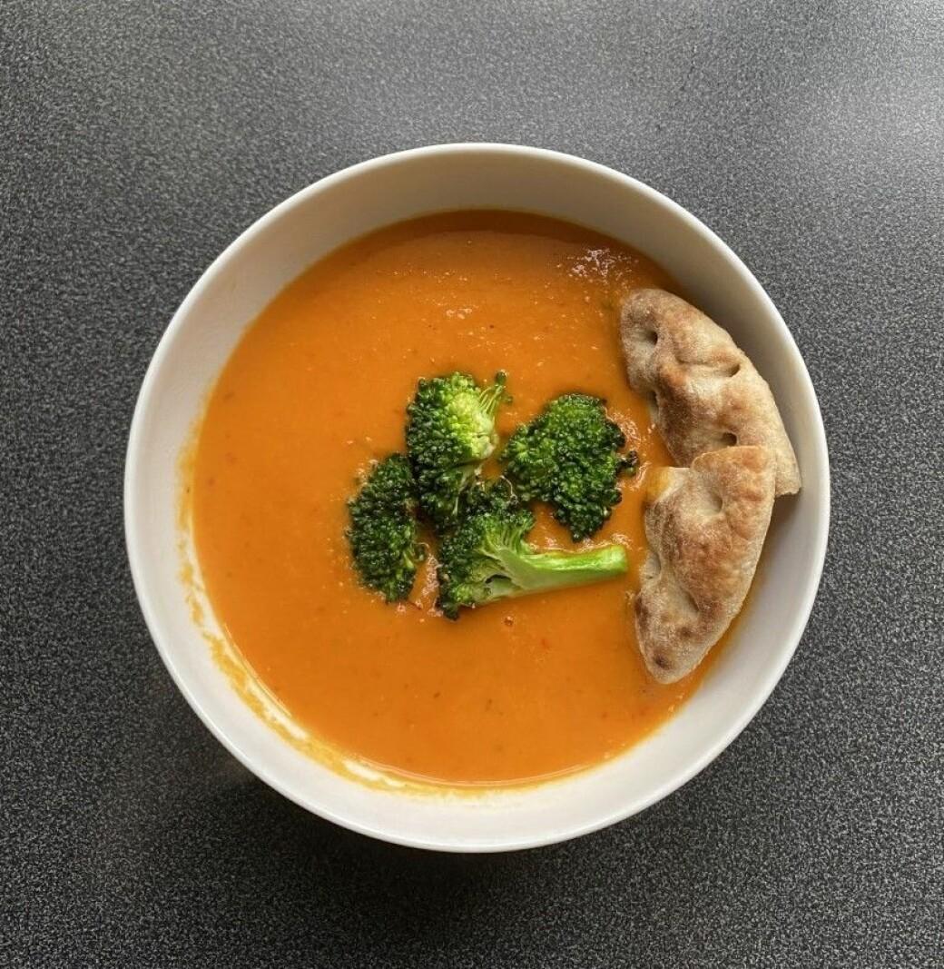VITAMINRIK: Denne suppa inneholder blant annet vitamin A som vil hjelpe øynene dine å holde tritt med lesingen.