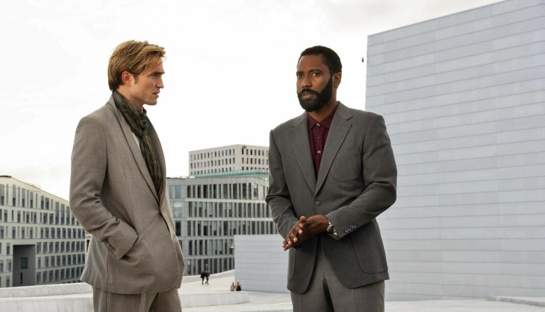 <b>I OSLO:</b> Robert Pattinson (t.v.) og John David Washington figurerer på operataket i <i>Tenet</i>.