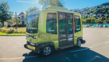 <b>BUSS PÅ BESTILLING: </b>Den lille selvkjørende bussen kan bestilles gjennom en egen app.
