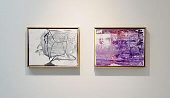Maleriene fremstår først abstrakte og non-figurative, men med tiden vokser organiske former fram.
