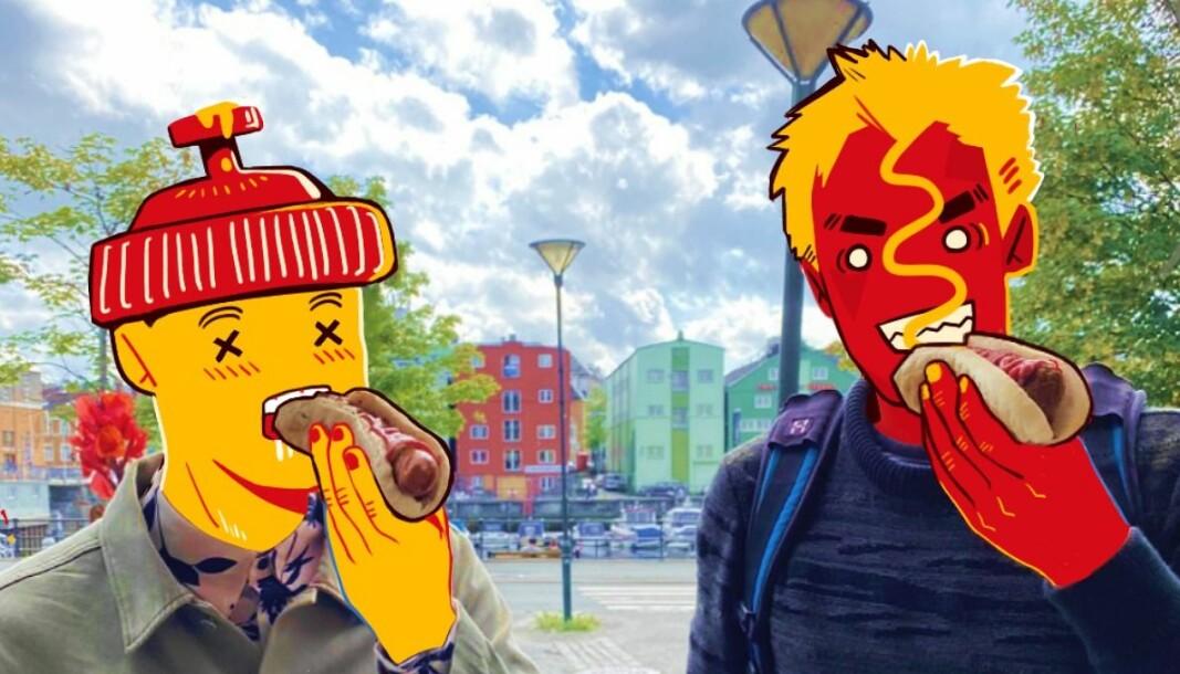 <b>OMDISKUTERT: </b>De lærde strides om hamburgergrillen egentlig er en pølse.