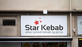 <b>KJØTTBAKERI:</b> Kebaben ved Star Kebab er ikke like overbevisende som inventaret.