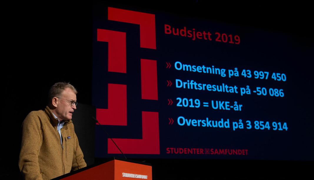 <b>GODT ÅR:</b> Leder av finansstyret Dag Herrem la fram tallene for 2019 foran en spent generalforsamling.