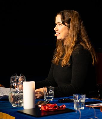 <b>DÅRLIGE PROGNOSER:</b> Leder av Studentersamfundet Karen Mjør fikk dårlige nyheter angående antall kjøpte medlemskort så langt i år.