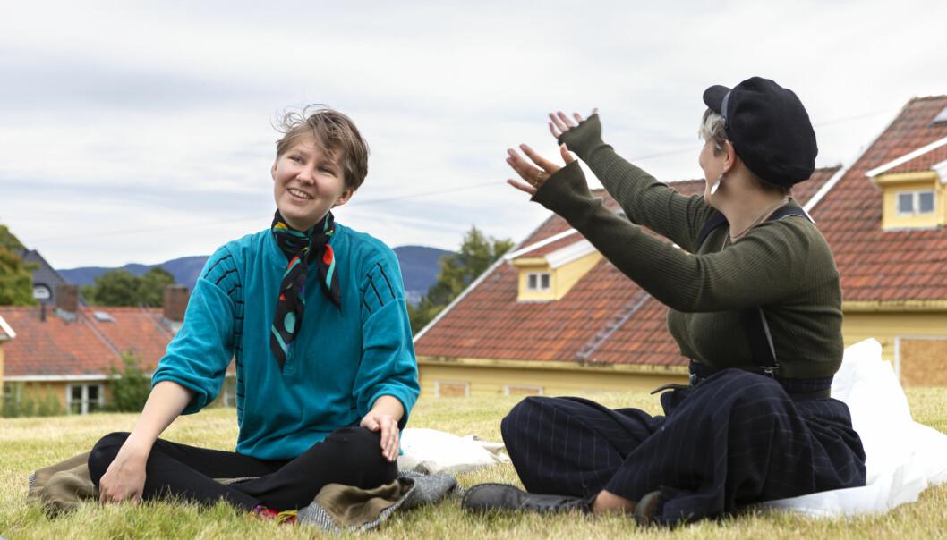 <b>OKKUPASJON:</b> Det hele startet da Kaja Colin Bojer og Mia Helene Engeskaug traff en danske som okkuperte et hus i området på Ungdom For Fri Aktivitet (UFFA).