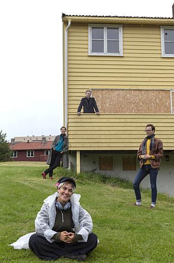 <b>FIRKLØVER:</b> De fire medlemmene av prosjektgruppa er godt fornøyd med grøntarealet til Fargemarka.