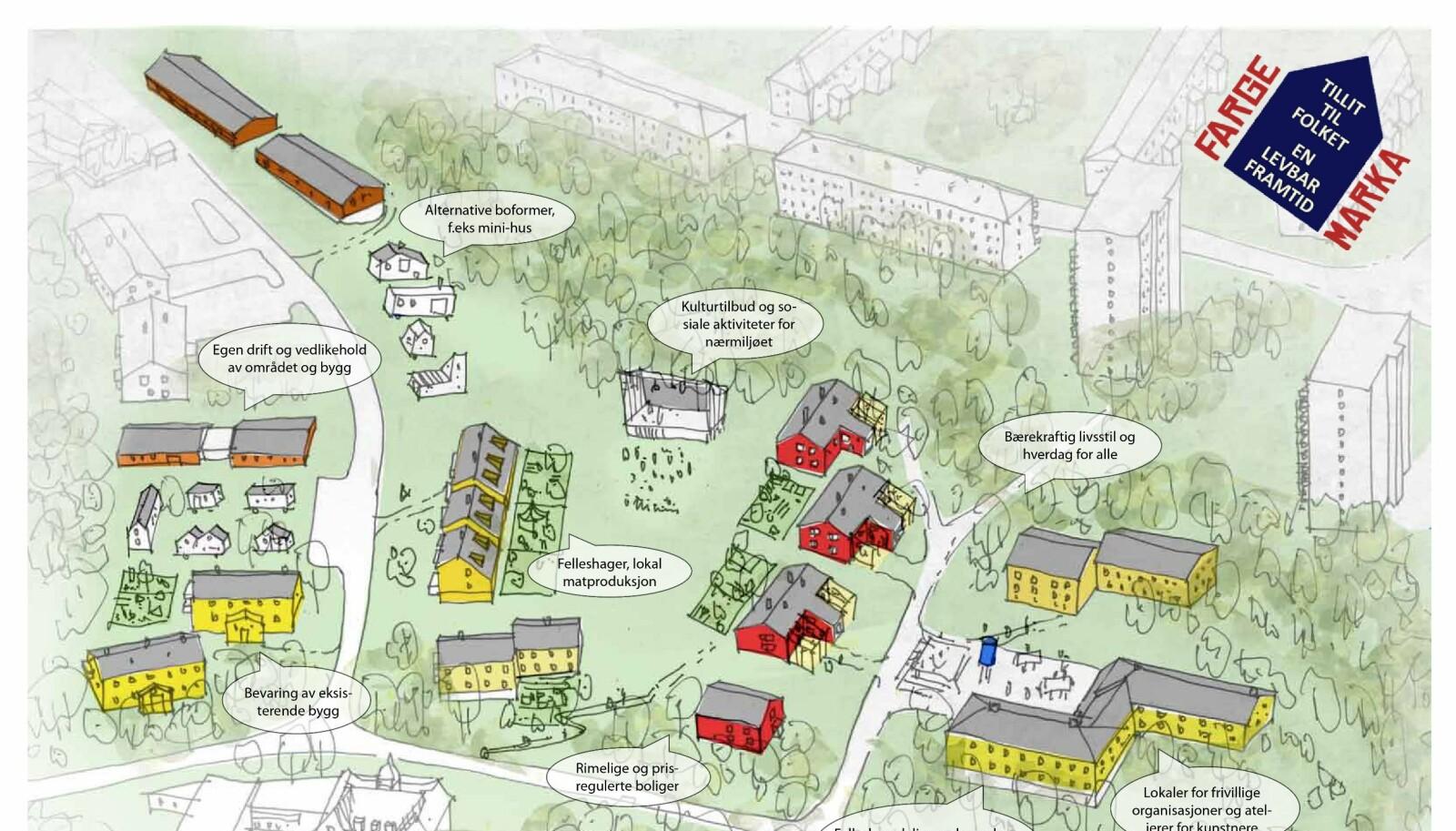 <b>BÆREKRAFT OG EPLESAFT:</b> Planen er å etablere en hage med lokal matproduksjon av frukt og grønt.