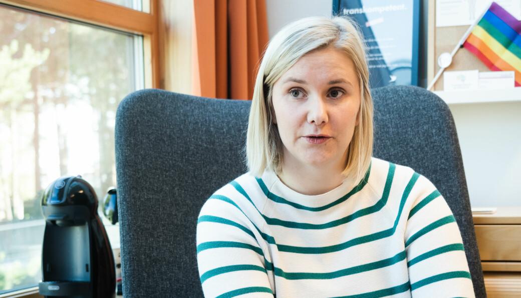 DRAGVOLL: Skjølberg er på Dragvoll hver onsdag, og håper hun snart kan være tilgjengelig på andre campus også. Ellers er hun å finne på kontoret i Midtbyen.