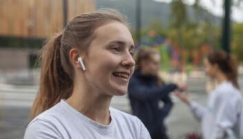 <b>STAFETTSTJERNE</b>: Marie Hjelmseth Larssen forberedte seg fredags ettermiddag på en 11 timers lang joggetur.