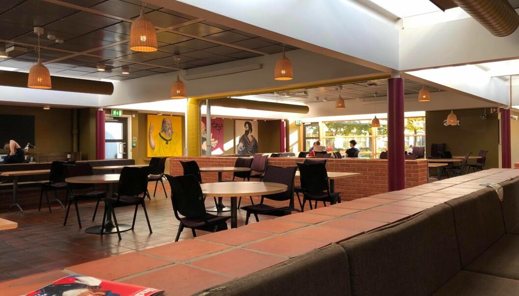 <b>INGEN STUDENTER? </b>Uten et fungerende busstilbud var det godt om plassen i kantina på Dragvoll mandag.