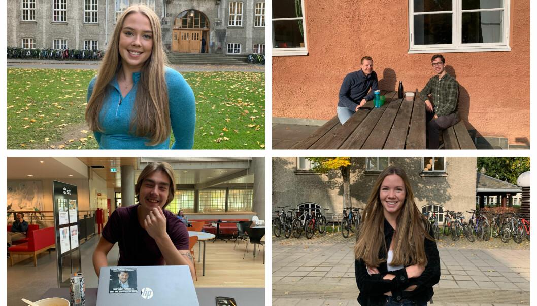 FEM PÅ GLØSHAUGEN: Vår journalist tok turen på campus.