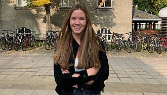 BETRYGGET: Birgitte Skei Van Der Harst synes det hjelper at hun har lesesalplass unna hovedbygningene.