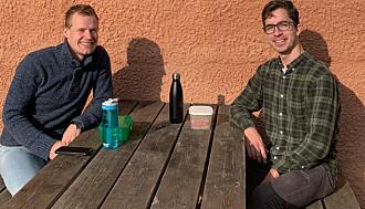 SMITTEVERN: Andreas Brennsæter og Johannes Log Indbjo synes det er gode rutiner, bare folk viser hensyn.