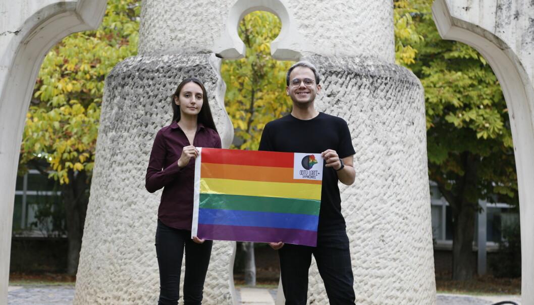 <b>LHBTI+-RETTIGHETER: </b>METU LGBTI+-medlemmene Solidarity Melike Balkan og Özgür Gür kjemper for skeives rettigheter