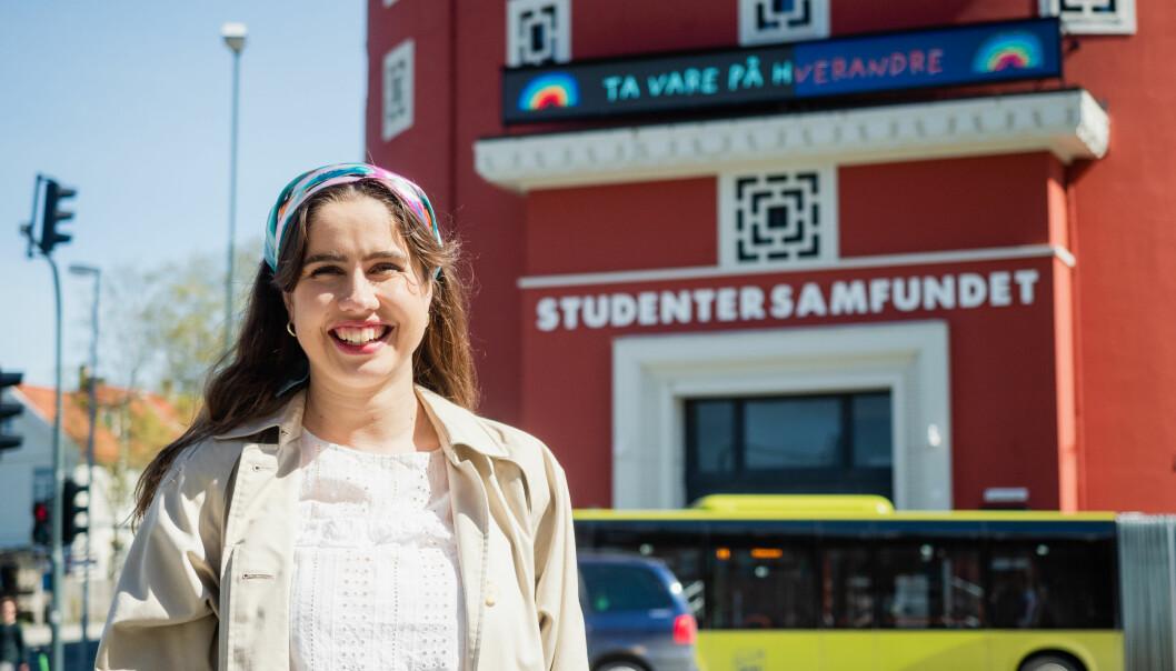 <b>Fornøyd: </b>– Det er utrolig flott at Samfundet og Fritt ord kan ha et godt samarbeid, forteller leder ved Studentersamfundet Karen Mjør.<b><br></b>