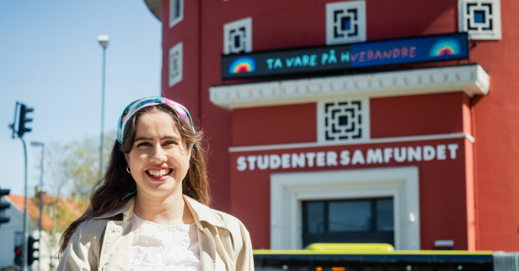 <b>Strålende fornøyd:</b> Karen Mjør stråler over Velferdstingets millionbidrag til nybygg.